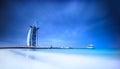 Burj Al Arab hotel on Jumeirah beach in Dubai Royalty Free Stock Photo