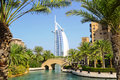 Burj Al Arab and Madinat Jumeirah, Dubai Royalty Free Stock Photography