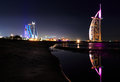 Burj al arab reflection Royalty Free Stock Photo