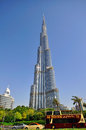Burj dubai the tallest in the world uae june building downtown on june is a city united arab emirates Stock Photo