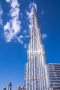 Burj Khalifa, famous landmark of Dubai Royalty Free Stock Photo