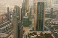 Burj khalifa the highest building in the world dubai uae june view of city from observation deck on june dubai Stock Images