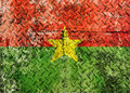 Burkina faso flag grunge Royalty Free Stock Photos