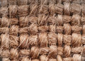 Burlap background brown tone natural fiber Stock Photo
