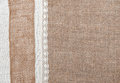 Burlap background with linen cloth and lace Stock Photography