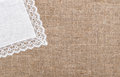 Burlap Background With Linen C...