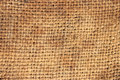 Burlap closeup of brown fibers Royalty Free Stock Image
