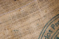 Burlap coffee sack Royalty Free Stock Photography