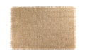 Burlap Fabric isolated on white background Royalty Free Stock Photo