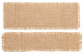 Burlap Fabric Patch Piece, Rustic Hessian Sack Cloth Isolated Royalty Free Stock Photo