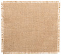 Burlap Fabric Torn Edges, Sack Cloth Pattern Isolated Royalty Free Stock Photo
