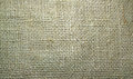 Burlap or hessian sacking material background a closeup of brown for a Stock Photo