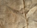 Burlap sack cloth closeup of natural hessian sacking Stock Image
