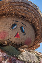 Burlap Scarecrow Close Up Stock Photography