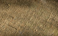 Burlap weave detail Royalty Free Stock Photography