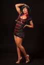 Burlesque dancer in pose Stock Images
