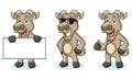 Burly Wood Goat Mascot happy Royalty Free Stock Photo