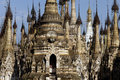 Burma / Indein pagodas Royalty Free Stock Photo