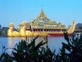 Burma. Karaweik Palace Stock Images
