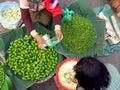 Burma Market Trade Stock Photo