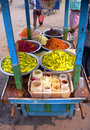 Burma. Street Vending Cart Royalty Free Stock Image