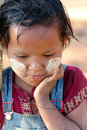 Burma - young girl Stock Photography