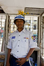 Burmese Traffic Police Man Stock Photos