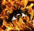 Burn eye Royalty Free Stock Photo