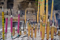 Burn joss sticks at Yungang grottoes Stock Photos