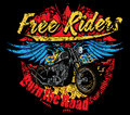 Burn the road free riders Stock Photos