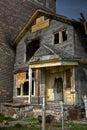 Burned Abandoned House Royalty Free Stock Photo