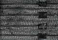 Burned black wooden wall background texture Stock Photo