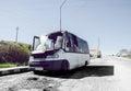 Burned Mini Van Royalty Free Stock Photo