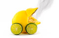 Burned out Lemon Car Stock Photo