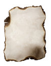 Burned paper Royalty Free Stock Photo
