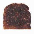 Burned toast Royalty Free Stock Photography