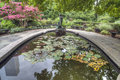 Burnett fountain the secret garden the bowl is a functioning birdbath where small birds drink during three seasons of the year the Royalty Free Stock Photography