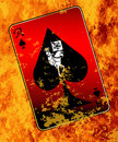 Burning Ace Of Spades Royalty Free Stock Photo