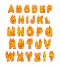 Burning Alphabet Royalty Free Stock Image