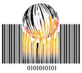 Burning bar code Royalty Free Stock Photography