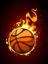 Burning basketball vector illustration Stock Photography
