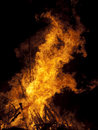 Burning bonfire Royalty Free Stock Photos