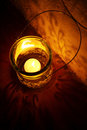Burning Candle Lantern Royalty Free Stock Photo