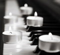 Burning Candles And Pianoforte