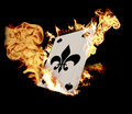 Burning Card Royalty Free Stock Photo