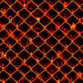 Burning chain link an illustration of a Royalty Free Stock Image