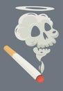 Burning cigarette.