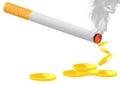 burning cigarette Royalty Free Stock Photo