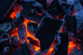 Burning coal Royalty Free Stock Photography