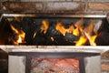 Burning coal Royalty Free Stock Photo
